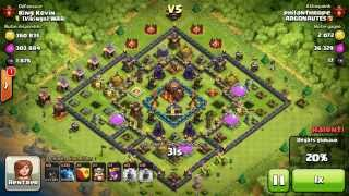 BM062 Balloons and Minions Strategy against champion level opponent - Clash of Clans CoC