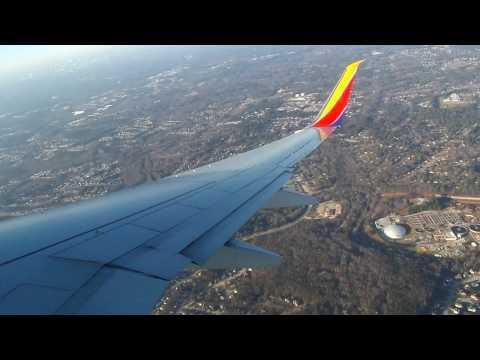Southwest Airlines 737-8H4 Landing in Atlanta Hartsfield/Jackson