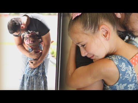 7-Year-Old Leukemia Survivor Cries as She Meets Her Bone Marrow Donor