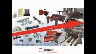 Pronic - In-die mechanical single spindle tapping unit with embedded strip following feature
