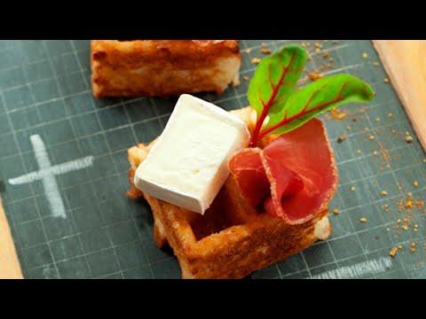 recette-:-gaufre-au-jambon-serrano-et-caprice-des-dieux