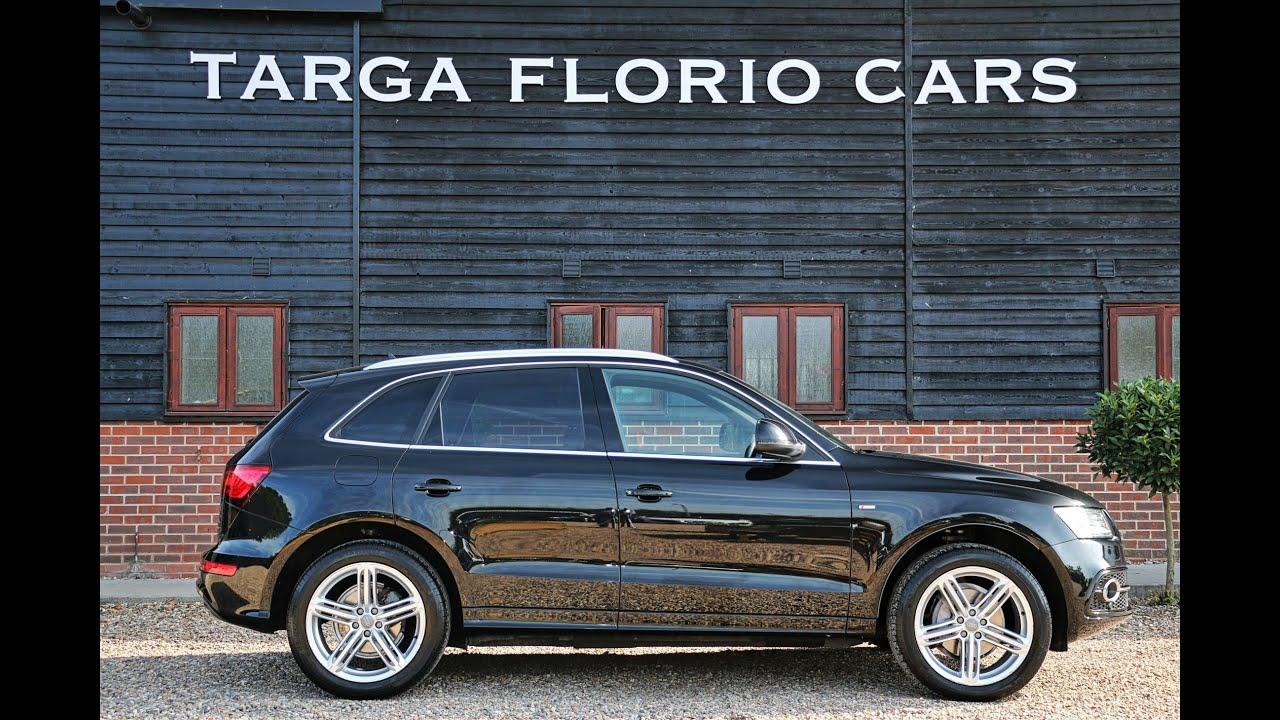 Audi Q5 S Line Plus 2 0 TDI Quattro in Brilliant Black with a Full S line  Black Leather Trim