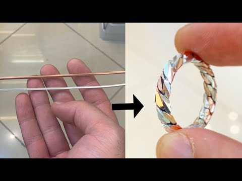 Making a ring from Copper and Silver Wire! | Jewellery Making | How it's Made | 4K Video