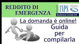 Reddito Di Emergenza Guida Per Compilarla