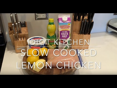 MOUTHWATERING SLOW COOKED LEMON CHICKEN RECIPE (Keto Friendly)