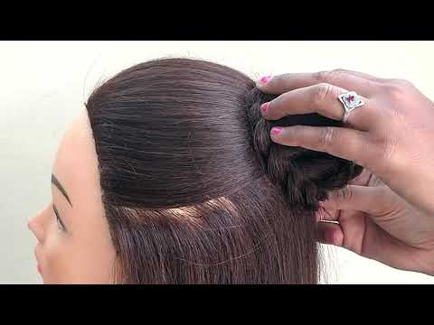 Beautiful Hairstyle For Marriage and Wedding Party || Awesome Hairstyle For Function thumbnail