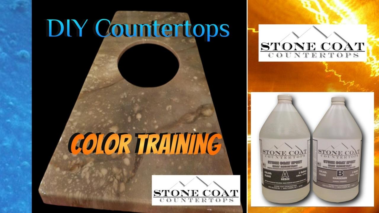 color training diy epoxy countertop stone coat countertops