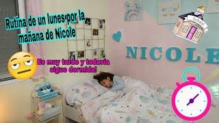 vlog 1/rutina de mañana de Nicole 😱 se queda dormida y llega tarde a clase