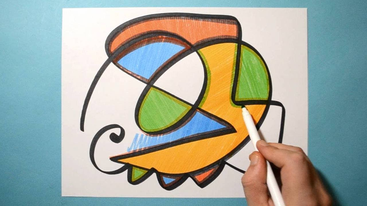 Fun Abstract Drawing Color Markers Satisfying Relaxing Daily Abstract Art Day 06 Youtube