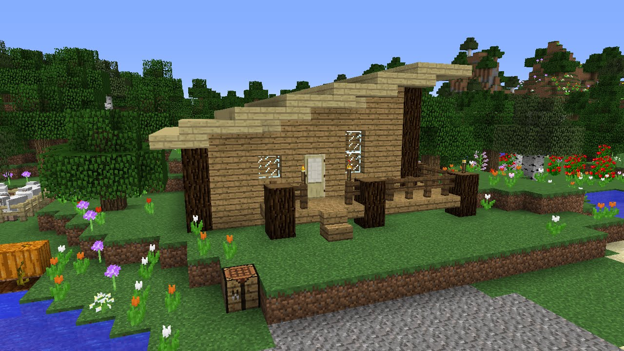 Modern Wood House Awesome Modern Wood House 18 Minecraft With Skillzwg Episode