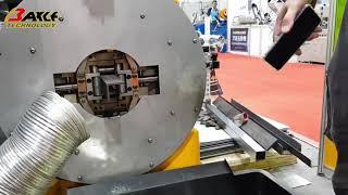 光纖雷射板管切割機。切管/切板一機搞定!角鋼切割示範