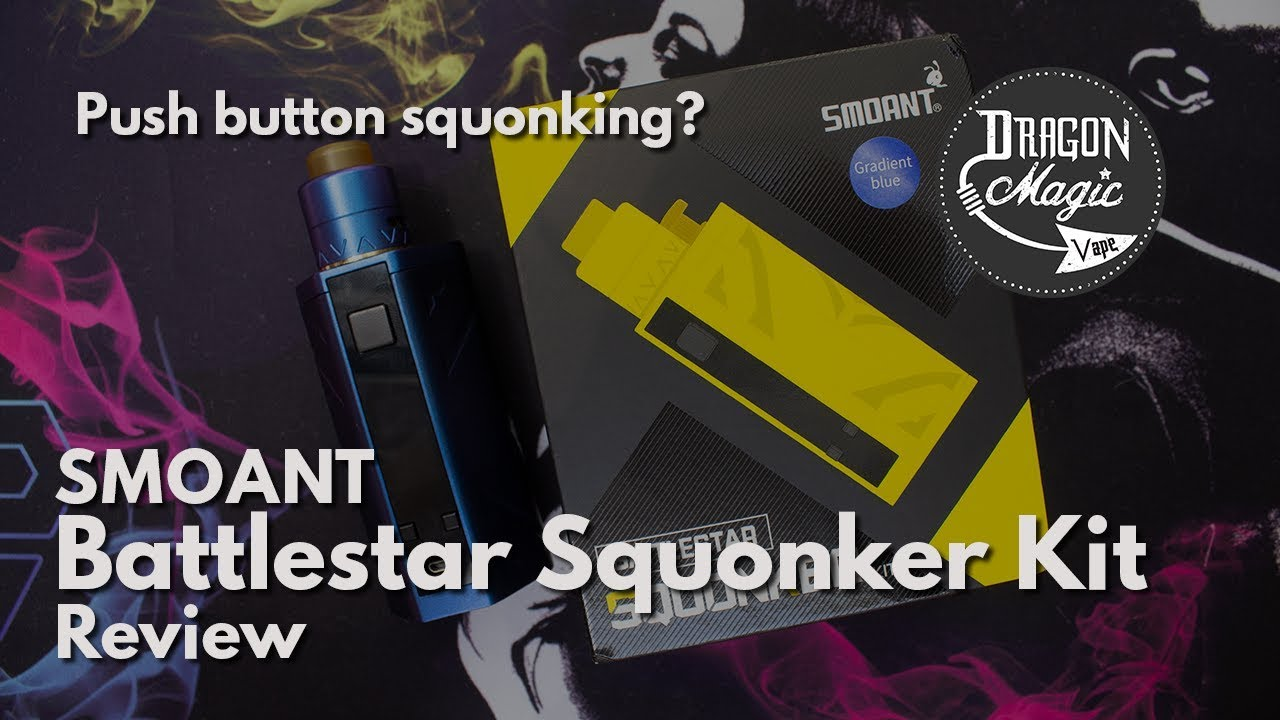 Smoant Battlestar Squonker Kit Vape Review Push Button Squonking