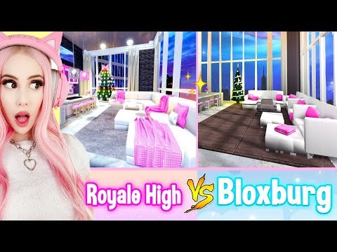Building The NEW Royale High Apartments IN BLOXBURG! Bloxburg Build Challenge