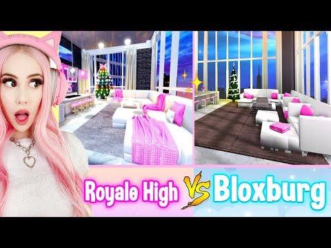 Building The NEW Royale High Apartments IN BLOXBURG! Bloxburg Build Challenge