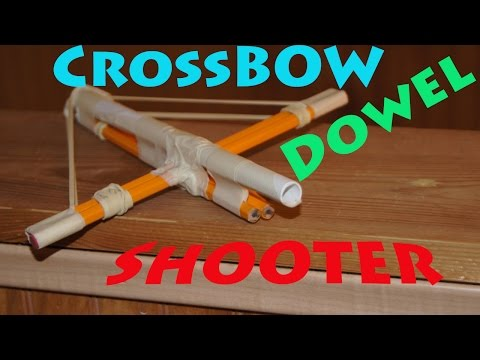 How to Make an Easy Paper Crossbow Gun! - Rob's World