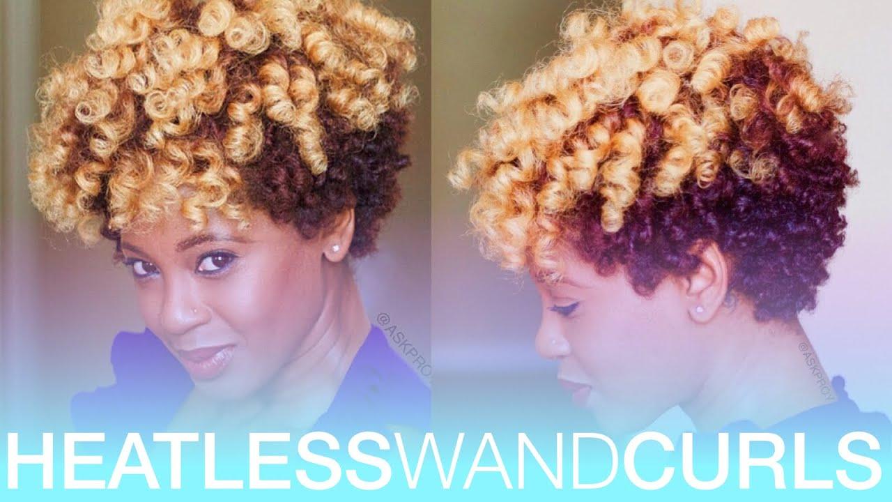 Hair Wand Styles: Heatless Wand Curls On Natural Hair