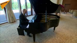 Putin Plays The Piano