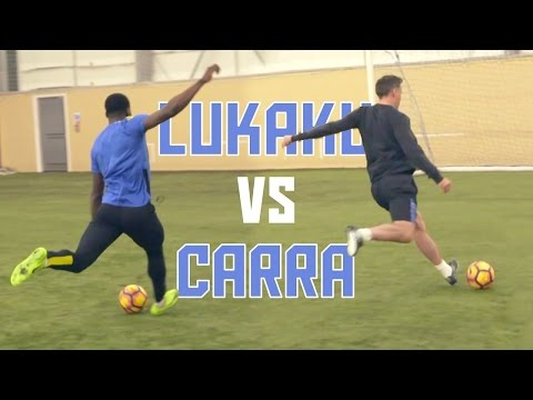 Romelu Lukaku vs Jamie Carragher! | Striker Masterclass