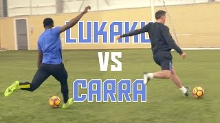 Romelu Lukaku vs Jamie Carragher  Striker Masterclass