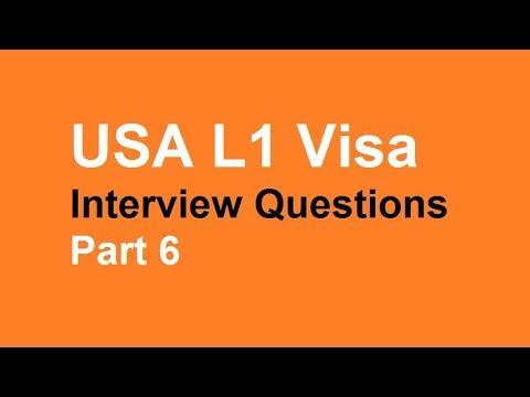 USA L1 Visa interview questions || part 6