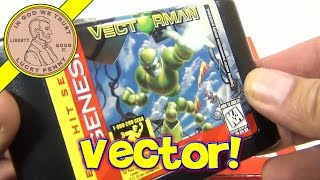 Sega Genesis Vectorman Video Game Cartridge - By 2049, Earth Becomes Toxic Waste Dump!