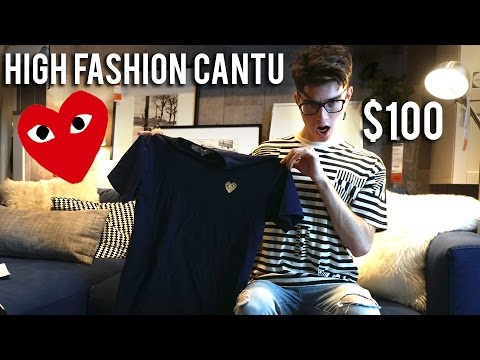 BUYING A $100 T-SHIRT!! CUZ IM BETTER THAN U! Comme Des Garcons X High Fashion Cantu!