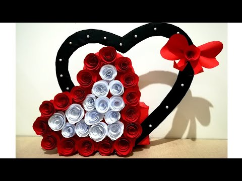 DIY Paper Heart Wall Hanging //Easy Wall Decoration Idea //DIY Gift Idea // Paper Craft