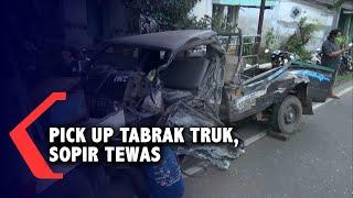 Mobil Pick Up Tabrak Truk Tangki, Sopir Tewas