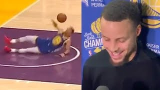 Steph Curry REACTS To Hilarious Dunk Attempt FAIL & AIRBALLED Three Pointer!