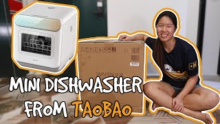UNBOXING TAOBAO MINI DISHWASHER   SINGAPORE REVIEW