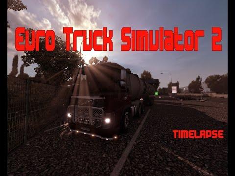 Euro Truck Simulator 2 - TIMELAPSE - Rotterdam, Netherlands to Łódź, Poland