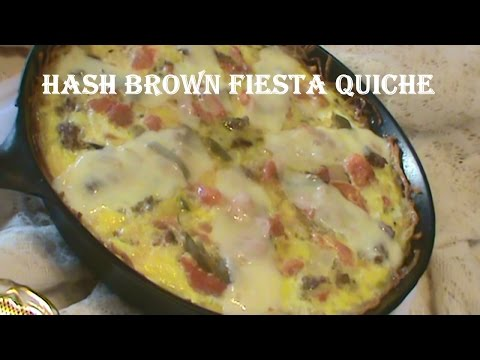 Cooking From Scratch: Hash Brown Fiesta Quiche - Gluten Free