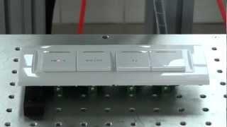 Laser Marking Machine on Plastic Switch (Nairobi Kenya Training)