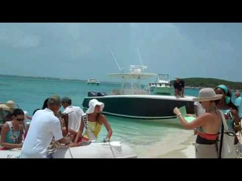 Miss Universe Contestants 2009 Chat 'N' Chill Beach Exuma Bahamas Bon Voyage