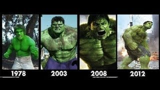Hulk transformation Movies -1978-2003-2008-2012- [hulk transformation]- Compilation