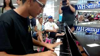 L' Amour Toujours  Gigi D'Agostino - PIANO COVER (live in airport)