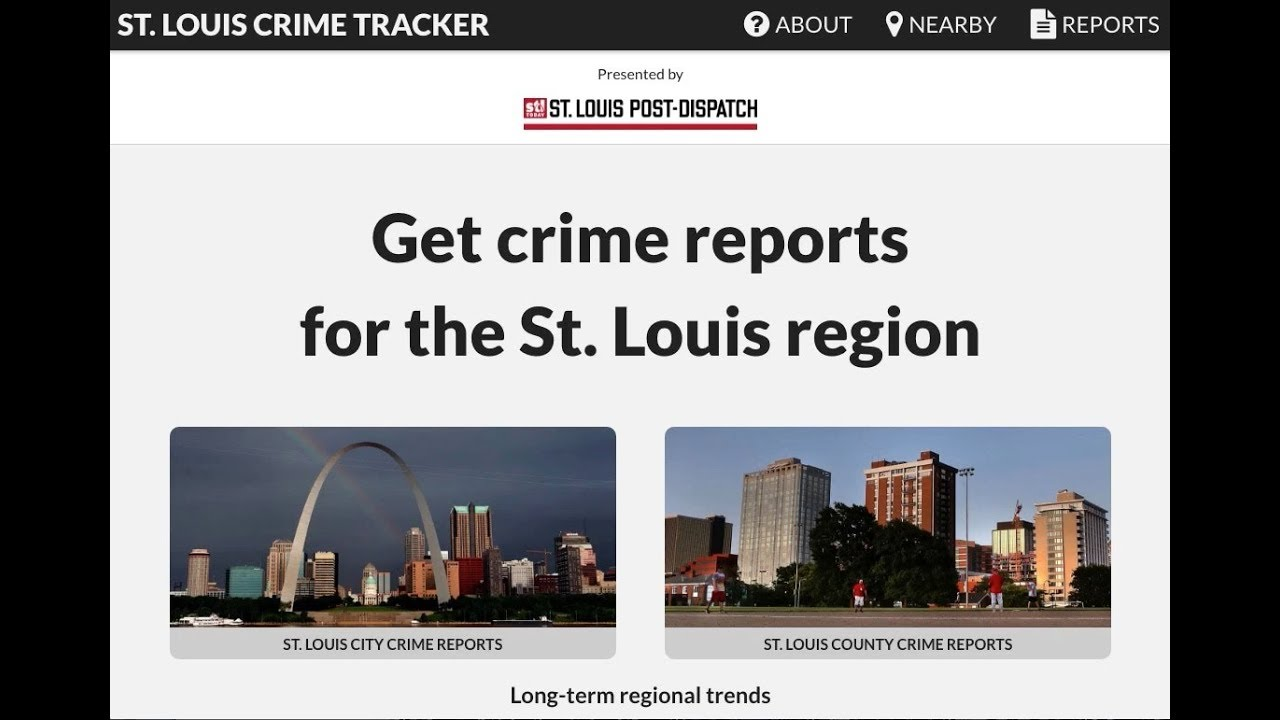 Video: Check out the Post-Dispatch's revamped St  Louis Crime Tracker