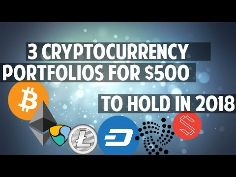 Three $500 cryptocurrency portfolios for 2018