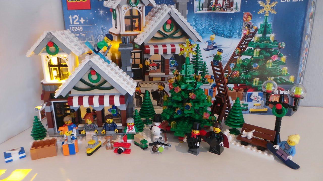 Lego 10249 Creator Winter Toy Shop Stop Motion / Zeitraffer Aufbauvideo -  YouTube