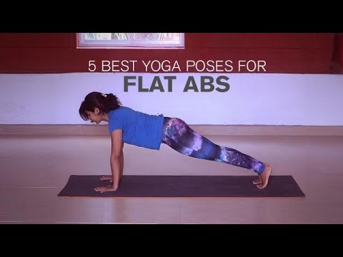 5 best yoga poses for flat abs  youtube
