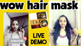 Hair Care Pampering Routine WOW Hair Mask daily care routine