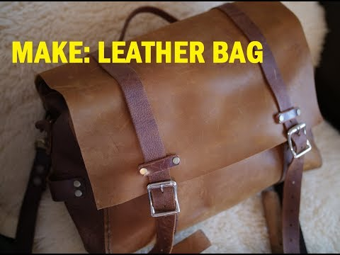 How to Make DIY Leather Bag for the Bushcraft Survival or Travel