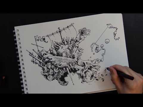 dagon-~-h.p.-lovecraft-(audiobook)-(drawing)