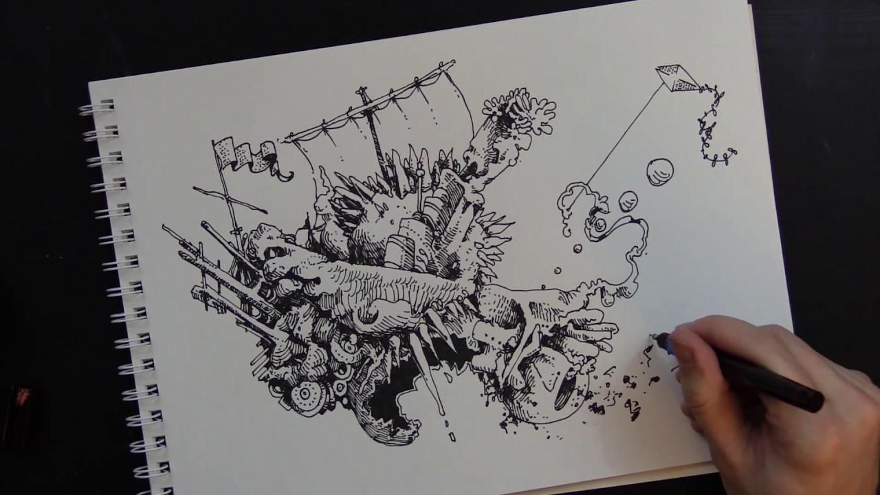 Dagon ~ H P  Lovecraft (Audiobook) (Drawing)