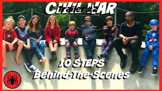 Captain America: Civil War Trailer 2, 10 steps BEHIND THE SCENES kid deadpool | SuperHeroKids BTS 5