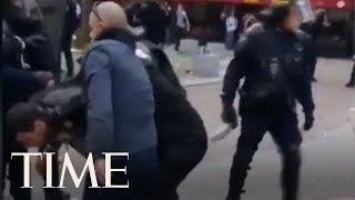 Video Shows Emmanuel Macron's Bodyguard Beating Student Protester In Paris | TIME