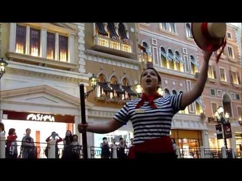 Gondola Ride Venetian Macau  澳门威尼斯人 'O sole mio (My Sun)