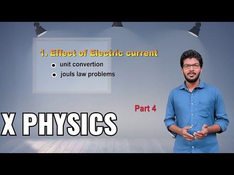 X Physics/unit 1- Effect of electric current/part 4 -units, Joules law problems  by Vivek Raj V
