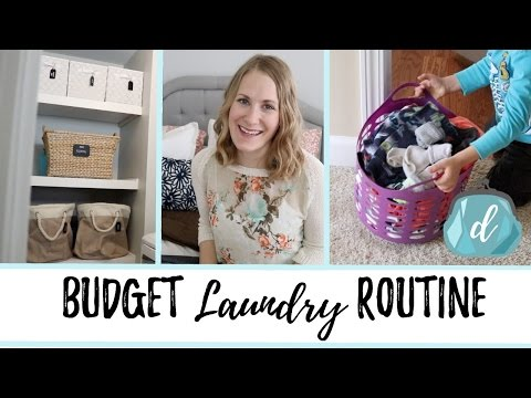 BUDGET LAUNDRY ROUTINE | Organization & Tips