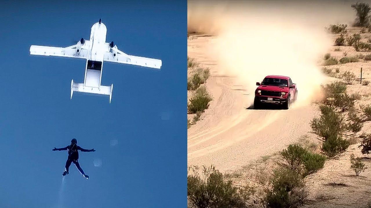 Ford Raptor versus Parachutist  Top Gear USA  Series 1  YouTube